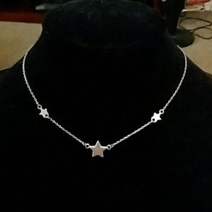 Silver tone Star Necklace.